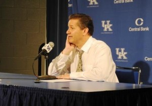 John Calipari has not been able to push the right buttons so far this season (photo by Dick Gabriel)