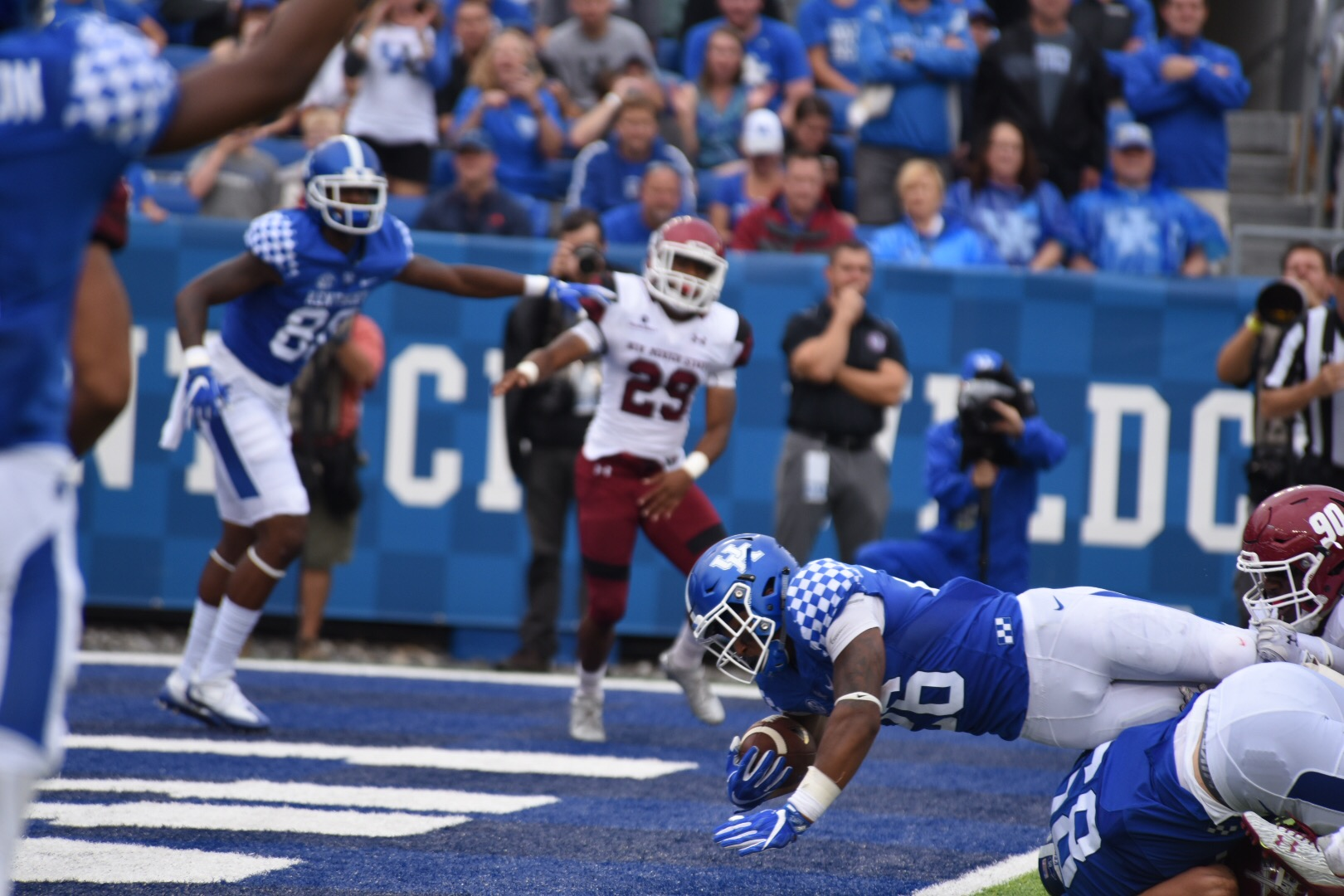 One of Snell's 4 touchdowns. Photo by: Brandon Turner