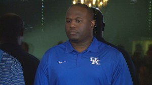 Former UK defensive end Jeremy Jarmon was honored at the 2016 Governor's Cup luncheon (WKYT)