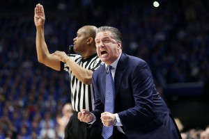 John Calipari tries to rally his team (Photo by Chet White | UK Athletics)