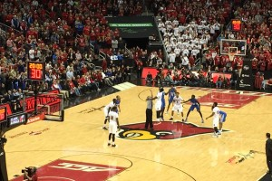 Cats and Cards tip it off (Photo by Curtis Burch)