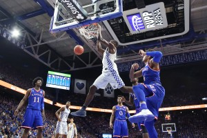 Bam Adebayo scored 10 points and grabbed 8 rebounds in the loss to Kansas (Photo courtesy Chet White/UK Athletics)