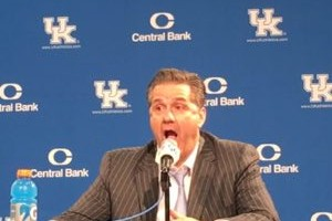 Calipari's face while describing Derek Willis' dunk