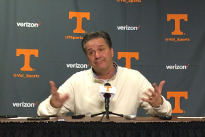 Calipari after Kentucky loss at Tennessee.