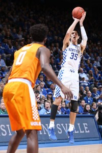 Derek Willis. The University of Kentucky men's basketball team beat Tennessee 83-58 on Tuesday, February 14, 2017, in Lexington's Rupp Arena. Photo by Chet White | UK Athletics