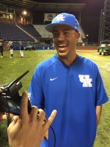 UK coach Nick Mingione has been all smiles for much of this season (photo by Dick Gabriel)