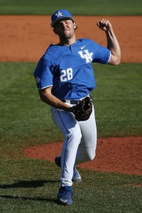 The Bulldogs scored 5 runs in the top of the 8th off ace reliever Logan Salow (Photo by Chet White | UK Athletics)