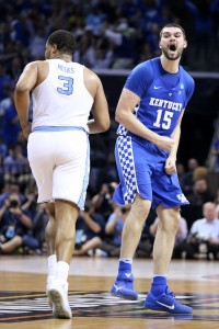 Isaac Humphries saved his best game of the season for his final performance as a Wildcat, in the Elite Eight loss to North Carolina (Photo by Chet White | UK Athletics)