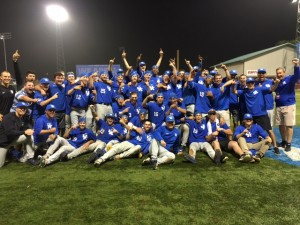 The Wildcats celebrate the first regional championship in the history of the school (photo by Dick Gabriel)