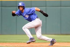 Riley Mahan had three hits and drove in two runs in Kentucky's NCAA tournament win over Ohio U (Photo courtesy UK Athletics)
