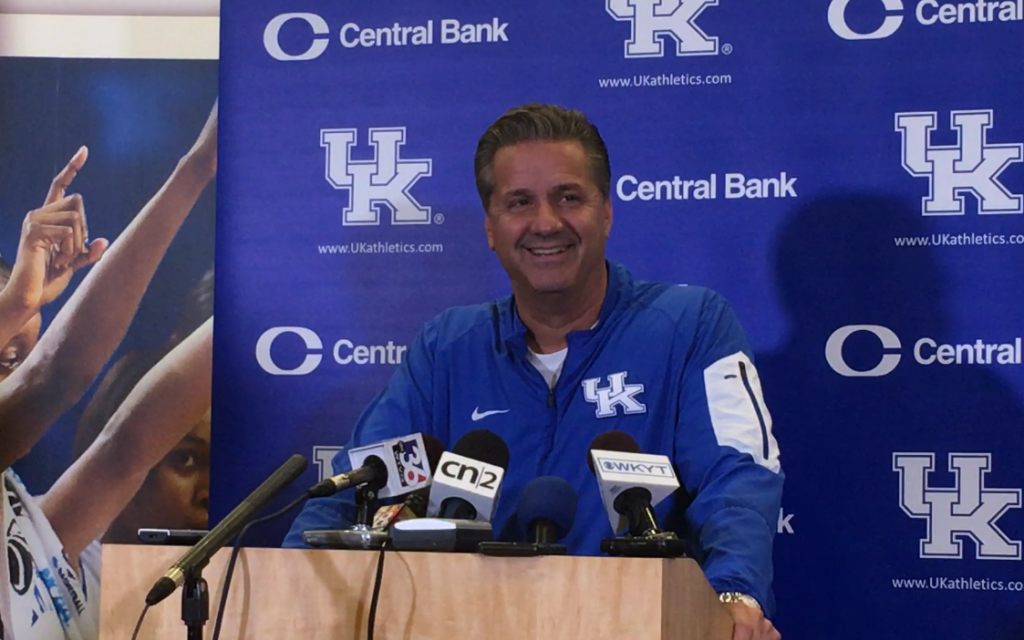 John Calipari post VMI