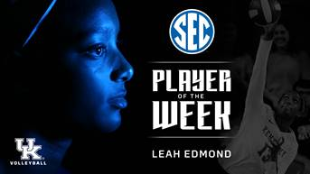 Edmond and Lilley Win Weekly SEC Awards