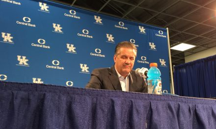 John Calipari post Blue/White Scrimmage