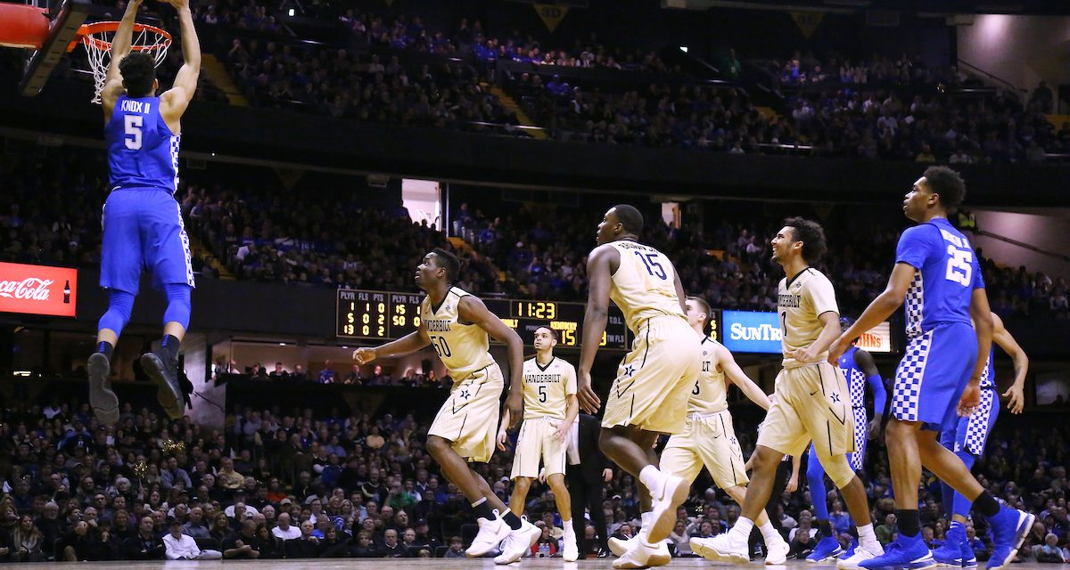 Notes and numbers from UK's win at Vanderbilt