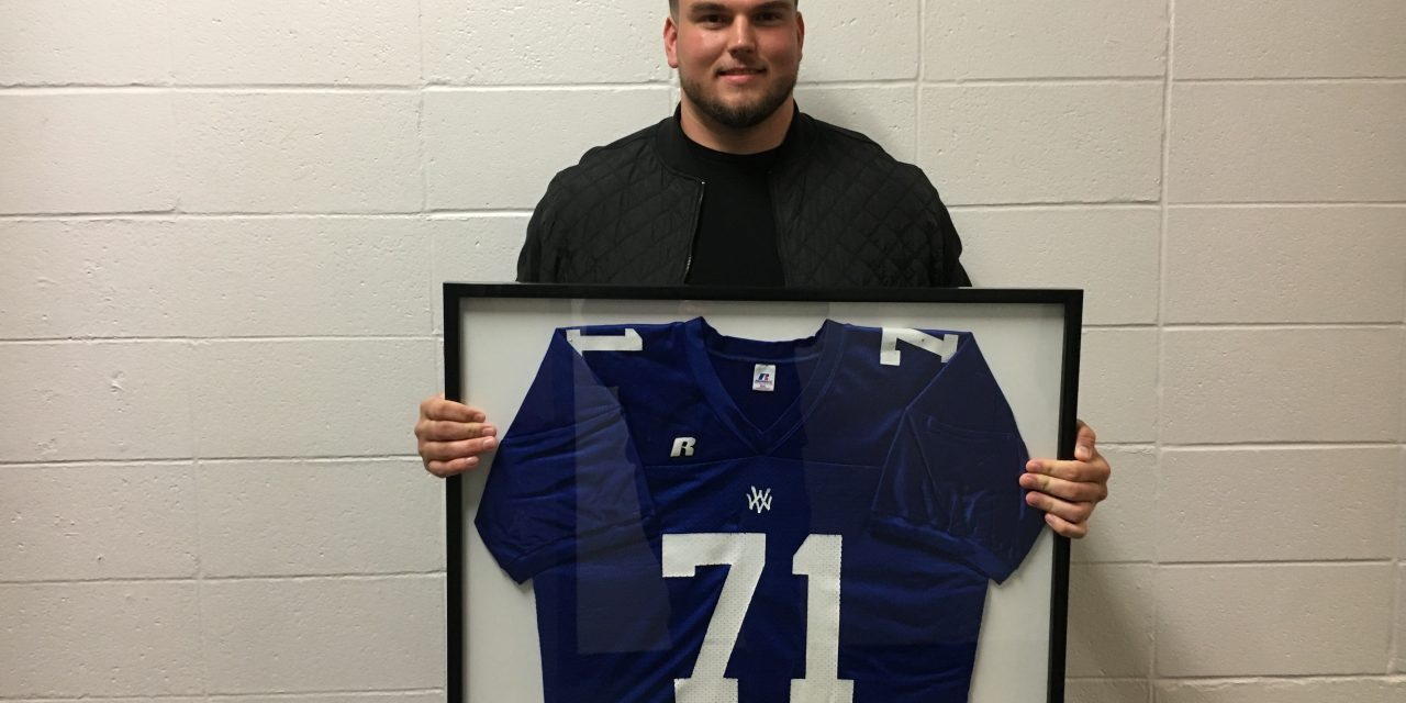Cole Mosier high school jersey retired