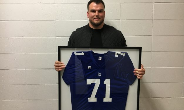 Cole Mosier high school jersey retired