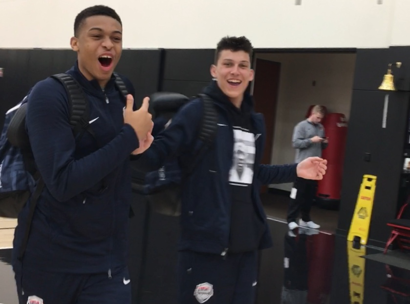 Video interviews with Tyler Herro and Keldon Johnson