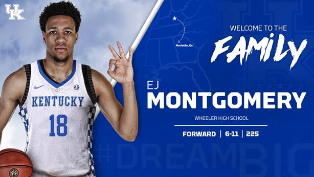 Kentucky Men's Basketball Officially Adds EJ Montgomery