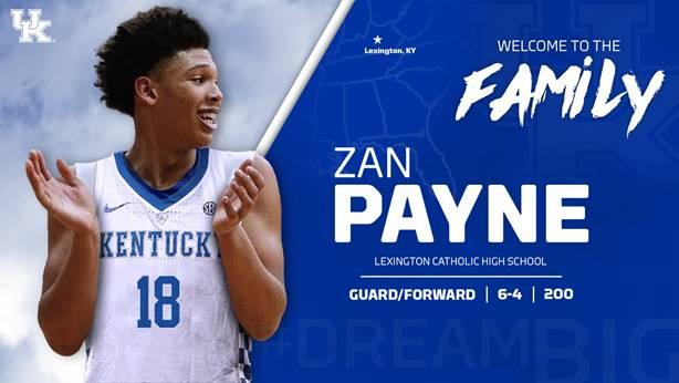 Zan Payne Joins Kentucky Men's Basketball Program