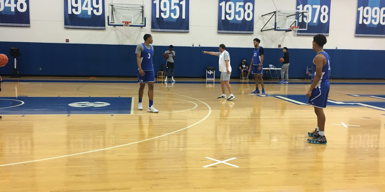 Sights and sounds from UK basketball practice