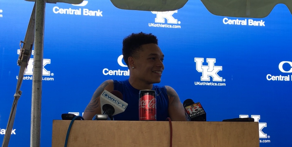 Kentucky Football players talk after earning a scholarship