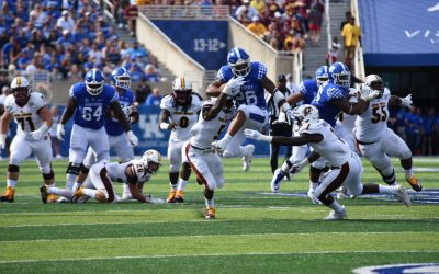 Benny Snell, Terry Wilson and E.J. Price after UK's win over CMU