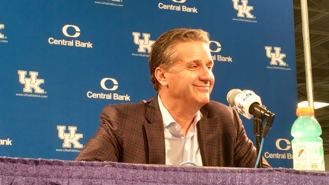 John Calipari post Utah