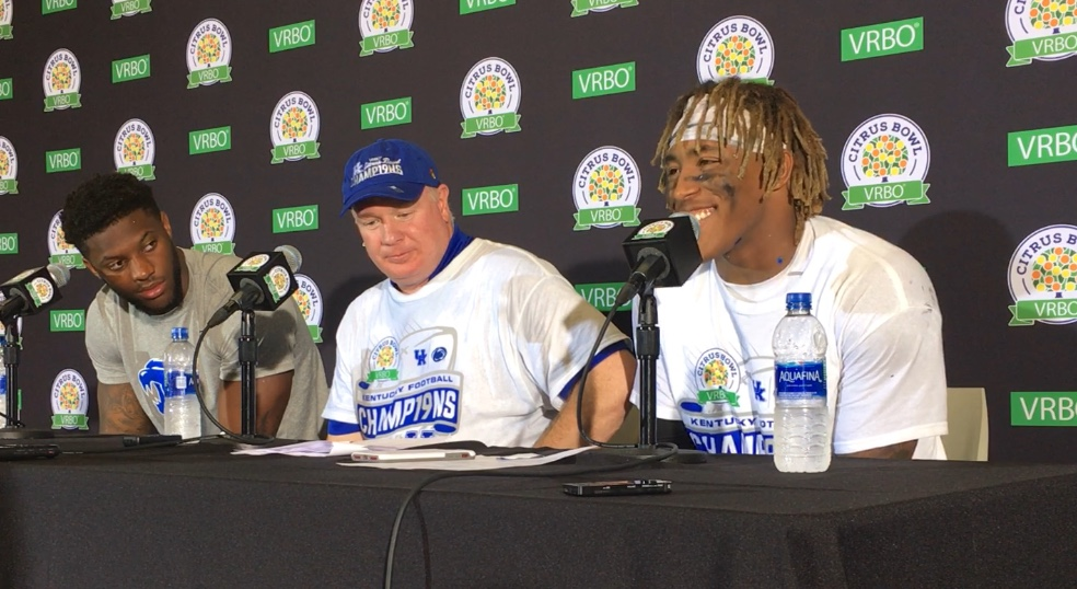 Stoops, Snell, Allen, Daniel, Conrad, Wilson post Citrus Bowl win