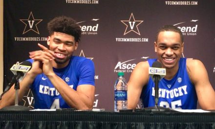 John Calipari, PJ Washington and Nick Richards post Vanderbilt