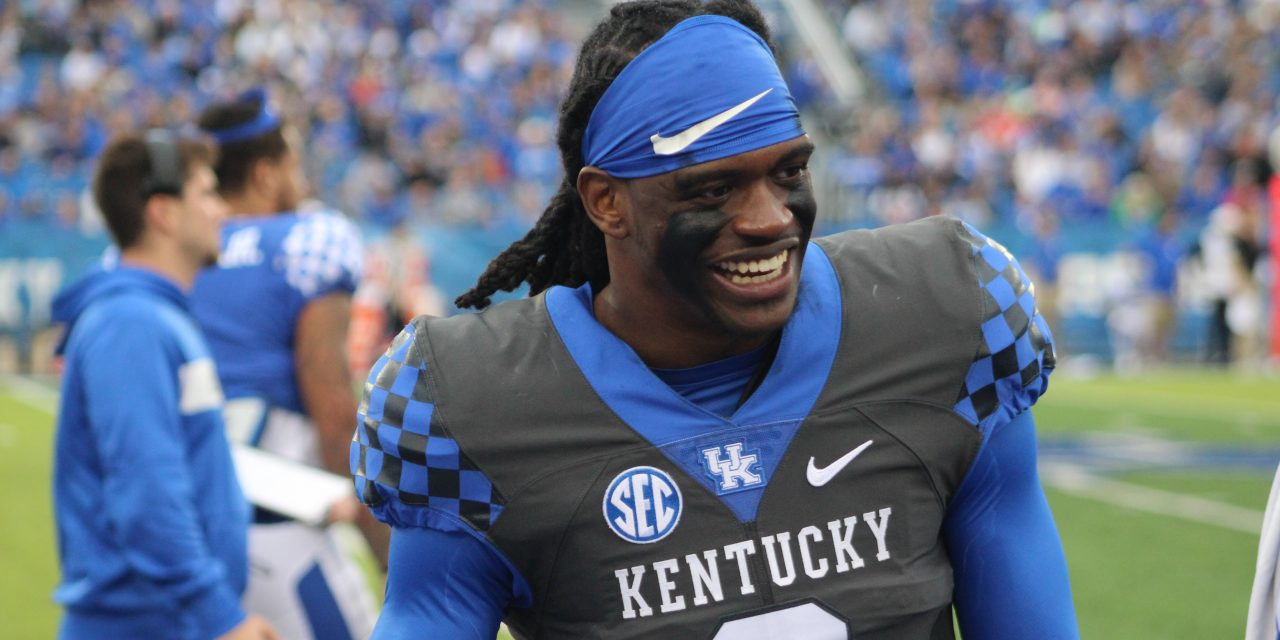 Kentucky players on UK Football Media Day