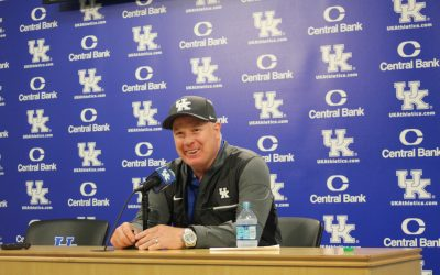 Mark Stoops post open practice and fan day