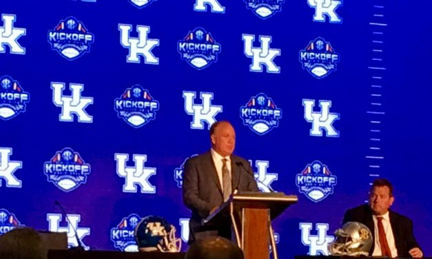 Mark Stoops at SEC Media Days