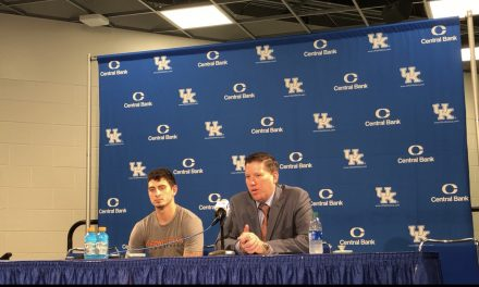 Georgetown Head Coach Chris Briggs And Guard Jake Ohmer Recap Loss To Kentucky
