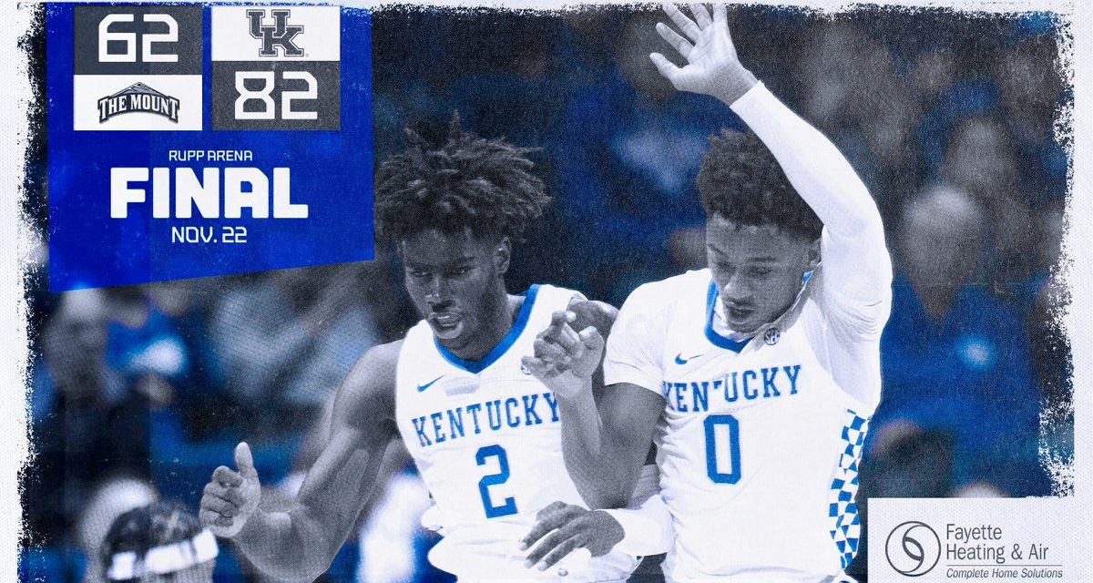 No. 9 Kentucky Blows By Mount St. Mary's: Recap, MVP & Highlights