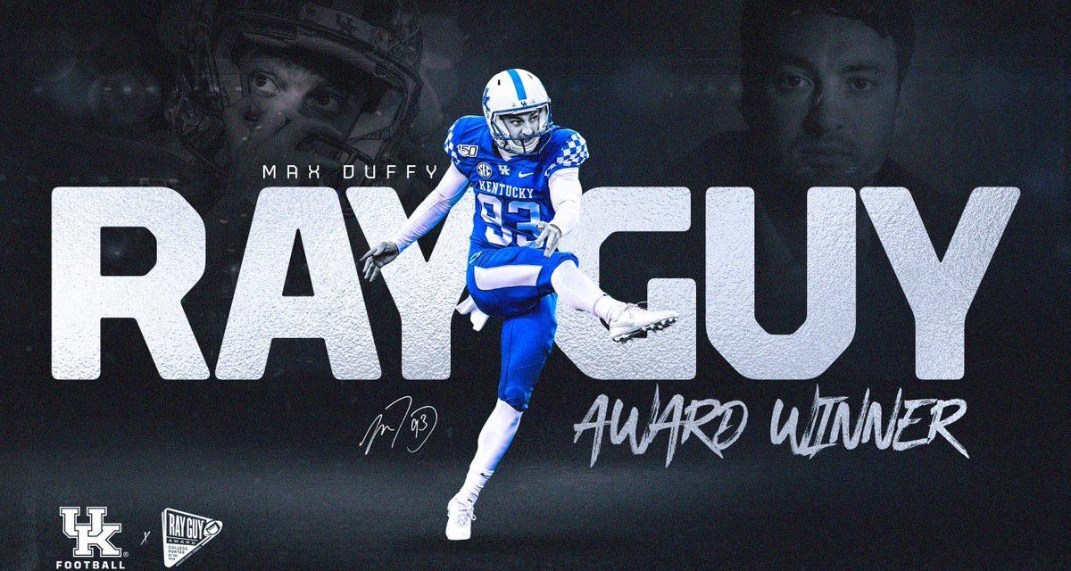 Max Duffy wins 2019 Ray Guy Award