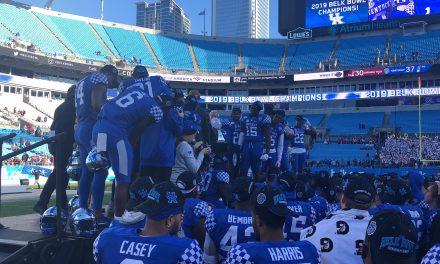 WATCH: Kentucky receives Belk Bowl Trophy