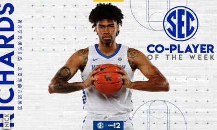 Nick Richards wins a pair of weekly honors