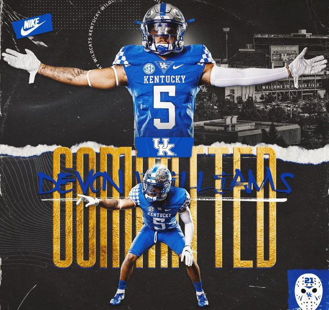 Kentucky Football lands first commitment of 2021 recruiting class in Devon Williams