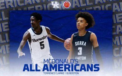 Kentucky signees B.J. Boston and Terrance Clarke named McDonald's All-Americans