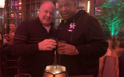 Mark Stoops and Vince Marrow celebrate the 'Big Dog' staying in Lexington