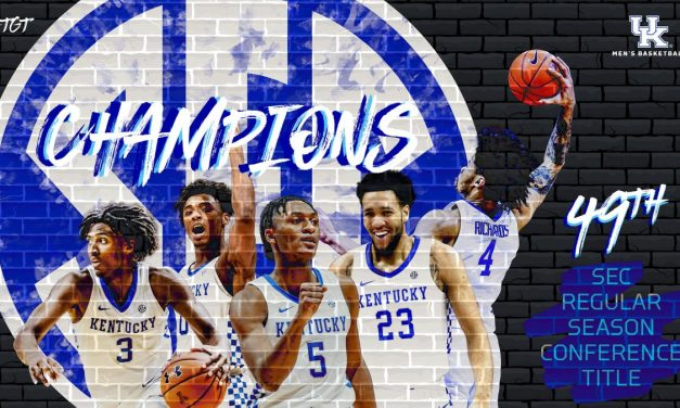 Kentucky clinches SEC regular season title with win over Auburn