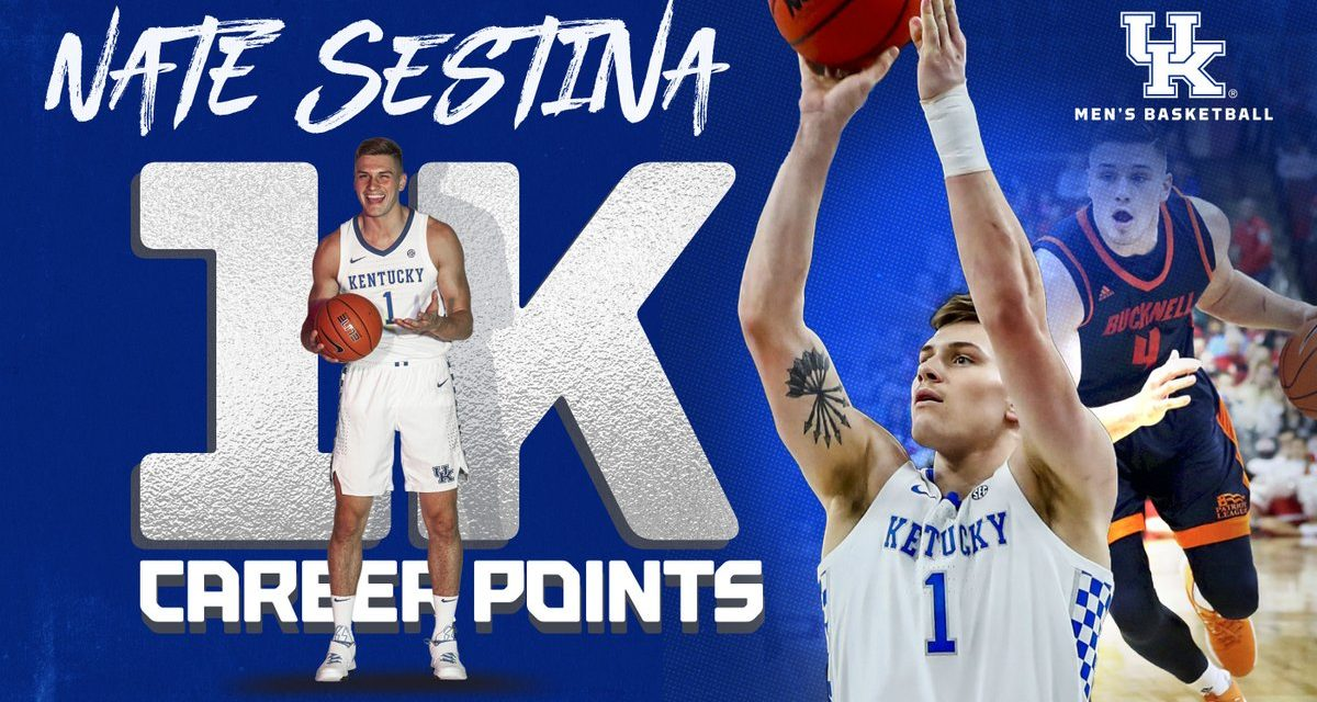 Nate Sestina eclipses 1,000 career points
