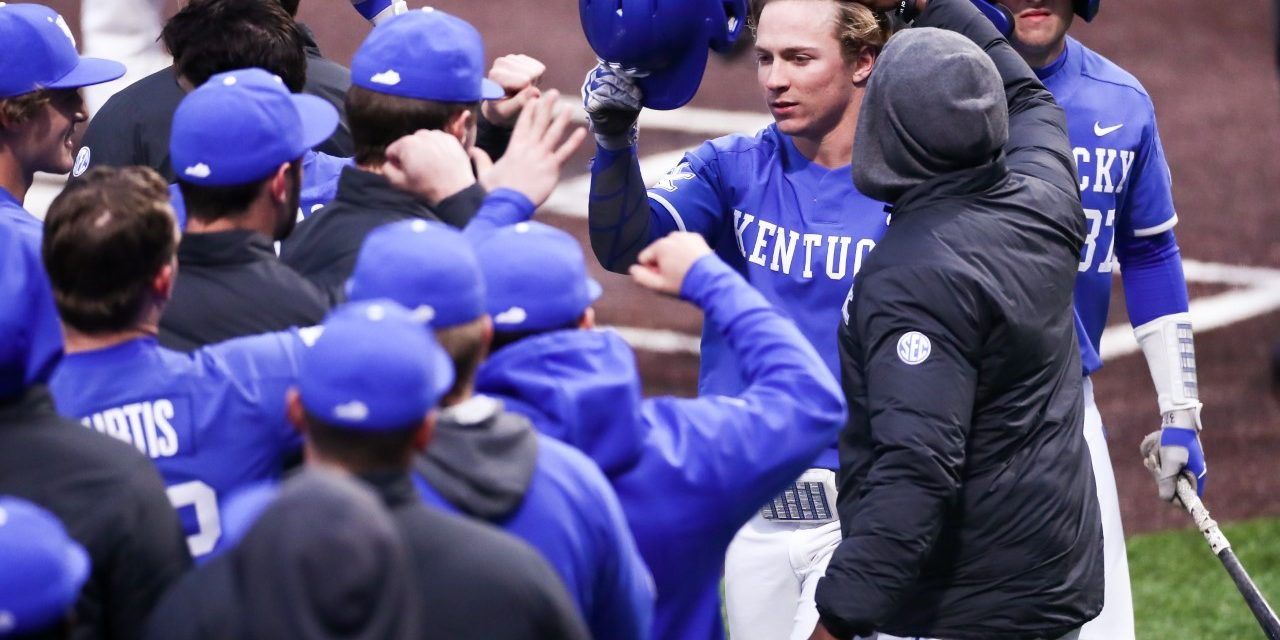 Austin Schultz drives in 4 runs to lead Kentucky to first win of 2020