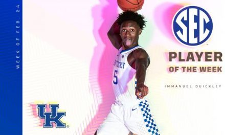 Immanuel Quickley named SEC Player of the Week