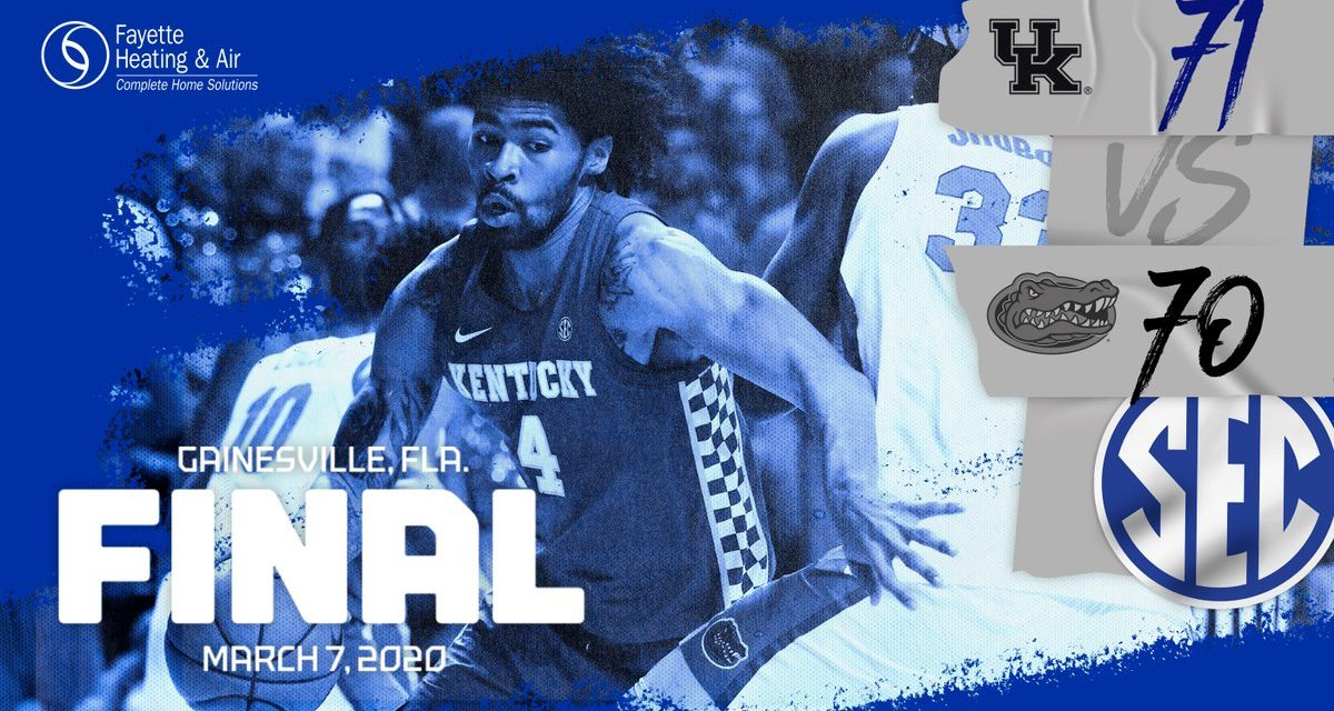 Kentucky mounts improbable 18-point comeback to shock Florida