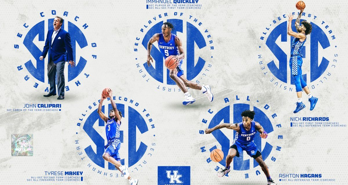5 Kentucky Wildcats take home SEC honors
