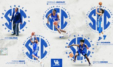 5 Kentucky Wildcats take home SEC honors