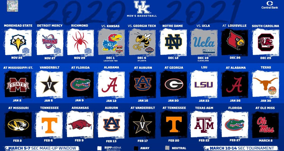 Kentucky Men's Basketball releases 2020-21 schedule