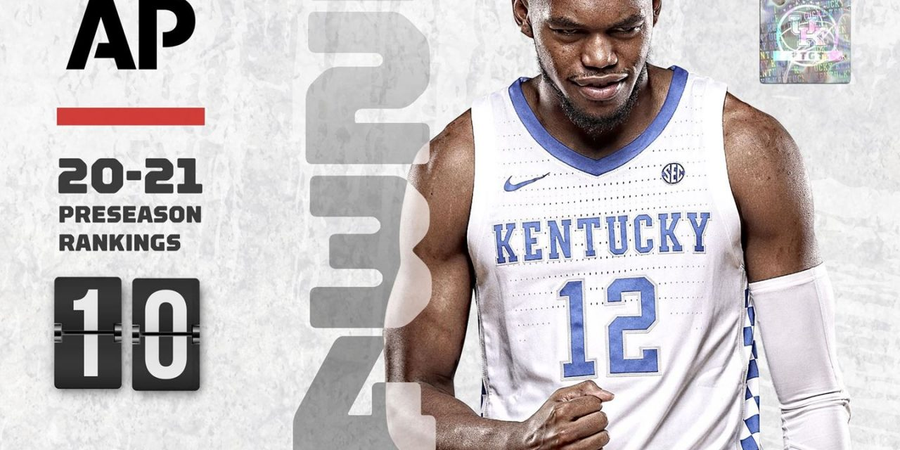 Kentucky opens 2020-21 season ranked 10th in AP Poll