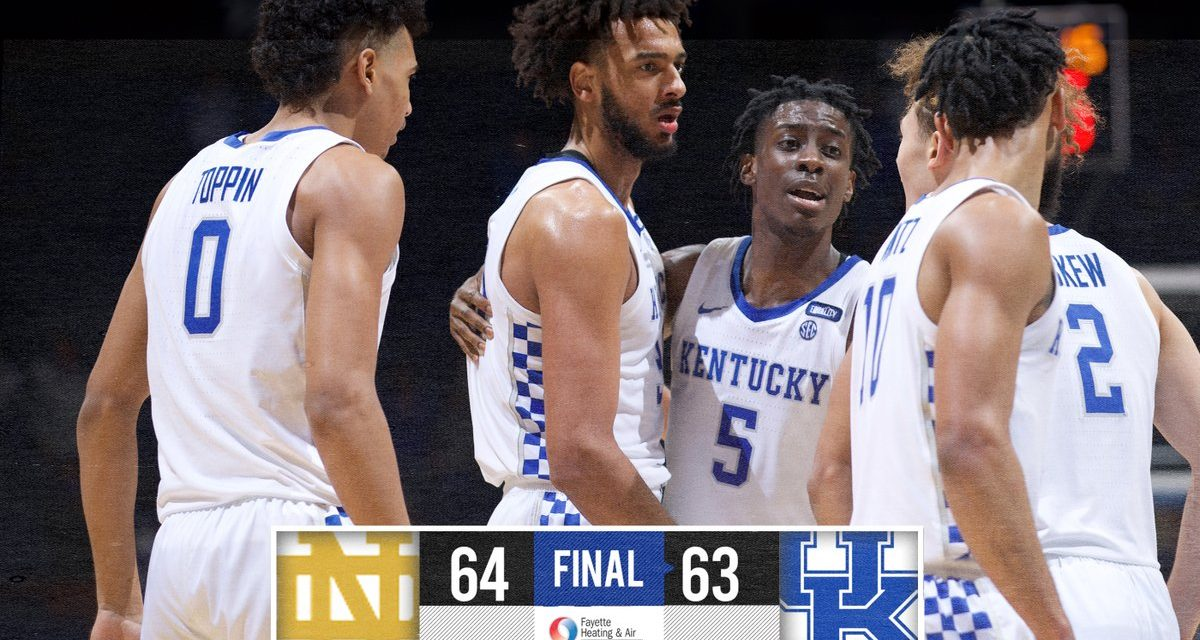 Kentucky's comeback bid falls short in loss to Notre Dame as early-season free fall continues